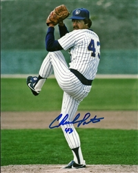 CHUCK PORTER SIGNED 8X10 BREWERS PHOTO #1