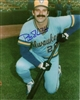 BOB SKUBE SIGNED 8X10 BREWERS PHOTO #1