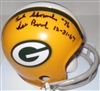 BOB SKORONSKI SIGNED MINI HELMET W/ ICE BOWL