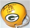 CHUCK MERCEIN SIGNED PACKERS MINI HELMET W/ SB CHAMPS