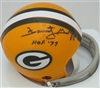 FORREST GREGG SIGNED PACKERS MINI HELMET W/ HOF