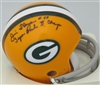 JIM FLANIGAN SIGNED MINI HELMET W/ SB CHAMPS