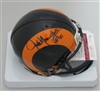 JACK YOUNGBLOOD SIGNED RAMS THROWBACK MINI HELMET - JSA