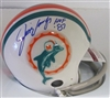 JIM LANGER SIGNED DOLPHINS MINI HELMET