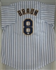 RYAN BRAUN SIGNED CUSTOM BREWERS PINSTRIPE JERSEY - JSA