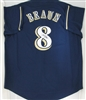RYAN BRAUN SIGNED CUSTOM BREWERS NAVY JERSEY - JSA