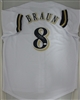RYAN BRAUN SIGNED CUSTOM BREWERS WHITE JERSEY - JSA