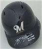 RYAN BRAUN SIGNED FULL SIZE BREWERS HELMET w/ ROY & MVP - JSA
