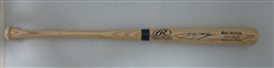 RYAN BRAUN SIGNED NAME ENGRAVED BIG STICK BLONDE BAT - JSA