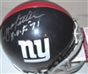 YA TITTLE SIGNED GIANTS THROWBACK MINI HELMET - JSA