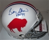 BILLY SHAW SIGNED BILLS THROWBACK MINI HELMET - JSA