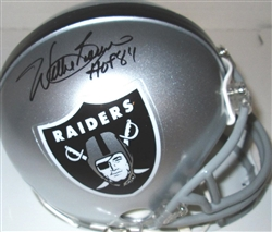 WILLIE BROWN SIGNED RAIDERS MINI HELMET