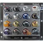 RIDDELL MICRO MINI HELMET NFC CONFERENCE SET