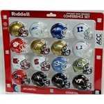 RIDDELL MICRO MINI HELMET ACC CONFERENCE COLLEGE SET