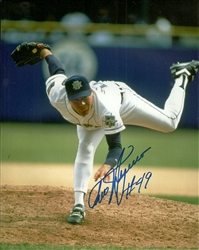 TEDDY HIGUERA SIGNED 8X10 BREWERS PHOTO #1