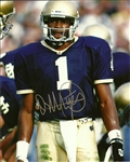DERRICK MAYES SIGNED 8X10 NOTRE DAME PHOTO #1