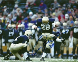 CRAIG HENTRICH SIGNED 8X10 NOTRE DAME PHOTO #1