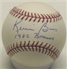 KEVIN BASS SIGNED MLB BASEBALL W/ 1982 BREWERS