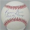 KEVIN BASS SIGNED MLB BASEBALL W/ 1982 AL CHAMPS