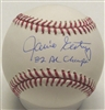 JAMIE EASTERLY SIGNED MLB BASEBALL W/ '82 AL CHAMPS
