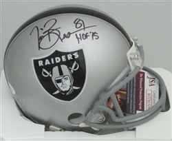 TIM BROWN SIGNED RAIDERS MINI HELMET - BCA