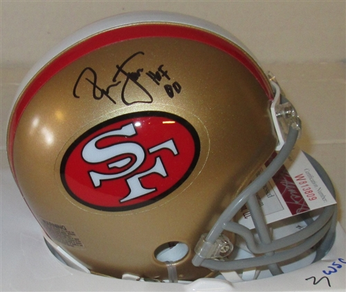 cheaper 938bb af741 RONNIE LOTT SIGNED SF 49ERS MINI HELMET - JSA