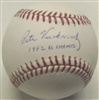 PETE VUCKOVICH SIGNED MLB BASEBALL W/ 1982 AL CHAMPS