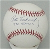 PETE VUCKOVICH SIGNED MLB BASEBALL W/ 1982 BREWERS - JSA