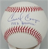 CECIL COOPER SIGNED MLB BASEBALL W/ 1982 BREWERS