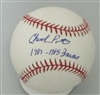 CHUCK PORTER SIGNED OFFICIAL MLB BASEBALL W/ 1981-85