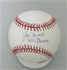 GEORGE DOC MEDICH SIGNED OFFICIAL MLB BASEBALL W/ 82 BREWERS