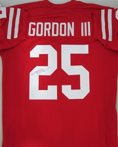 newest a8fba 66822 MELVIN GORDON SIGNED CUSTOM REPLICA WI BADGERS JERSEY -JSA
