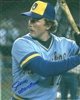 JIM GANTNER SIGNED 8X10 BREWERS PHOTO #7