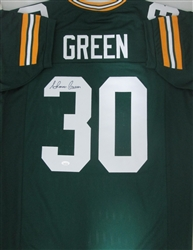 AHMAN GREEN SIGNED CUSTOM PACKERS REPLICA JERSEY - JSA