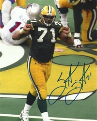 SANTANA DOTSON SIGNED 8X10 PACKERS PHOTO #1
