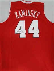 FRANK KAMINSKY SIGNED CUSTOM WI BADGERS RED JERSEY
