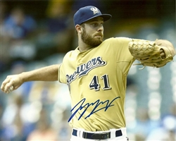 TAYLOR JUNGMANN SIGNED 8X10 BREWERS PHOTO #3
