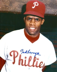 TED SAVAGE SIGNED 8X10 PHILLIES PHOTO #2