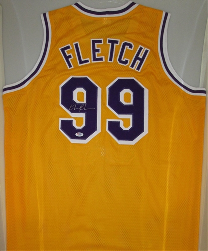 dc9710e3a1fa chevy chase signed custom la lakers fletch jersey - psa dna