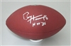 PAUL HORNUNG SIGNED WILSON REPLICA FOOTBALL W/ HOF '86
