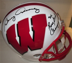 BARRY ALVAREZ SIGNED FS BADGERS REPLICA HELMET W/ 3XRB