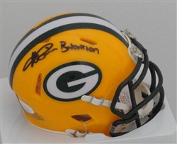 "ANDRE RISON SIGNED PACKERS MINI HELMET W/ ""BAD MOON"""
