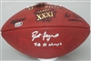 BRETT FAVRE SIGNED AUTHENTIC WILSON SB XXXI LOGO FOOTBALL W/ SB XXXI
