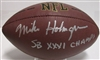 MIKE HOLMGREN SIGNED WILSON REPLICA FOOTBAL W/ SB XXXI