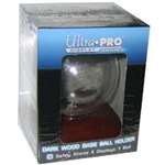 ULTRA PRO DARK WOOD BASE BASEBALL HOLDER