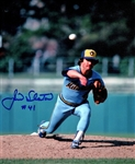 JIM SLATON SIGNED 8X10 BREWERS PHOTO #4