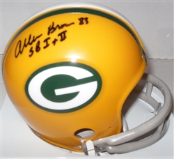 ALLEN BROWN SIGNED PACKERS MINI HELMET w/ SB I & II