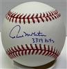 PAUL MOLITOR SIGNED MLB BASEBALL w/ 3319 HITS - JSA