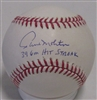 PAUL MOLITOR SIGNED MLB BASEBALL w/ 39 GM HIT STREAK - JSA