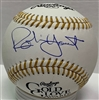 ROBIN YOUNT SIGNED MLB GOLD GLOVE LOGO BASEBALL